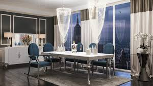 Transitional Dining Room Furniture A U0026x Baccarat Transitional White Crocodile Dining Table