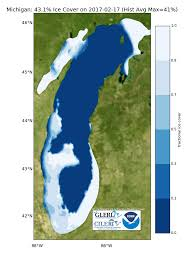 Ann Arbor Michigan Map by Ice Cover Noaa Great Lakes Environmental Research Laboratory