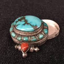 turquoise tibetan necklace images Beautiful tibetan turquoise gau pendant jewelry mahakala fine arts JPG