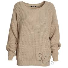 oversized baggy jumper knitted womens sweater chunky knit top
