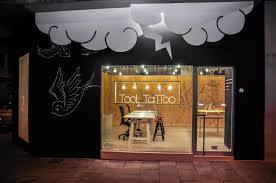 tattoo shop interior design idea with friendly appearance bright