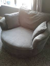 very big sofa and matching swivel cuddle chair 250 in