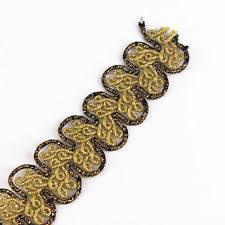 gold lace ribbon 20y gold trim lace ribbon applique embellishment metallic sewing