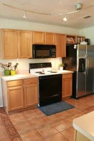 Update Oak Kitchen Cabinets Honey Oak Cabinets With Stainless Steel Appliances My Faves For