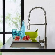 Pull Down Kitchen Faucet The Foodie Single Handle Pull Down Pre Rinse Kitchen Faucet By