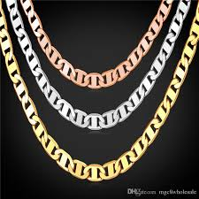 mens figaro chain necklace images U7 figaro chain necklace 3 sizes men jewelry 18k real gold plated jpg