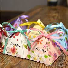 wedding favors for kids 2017 new baby shower triangle candy box gift box party show