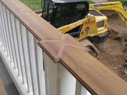 outdoor wood railings decks u0026 fencing contractor talk