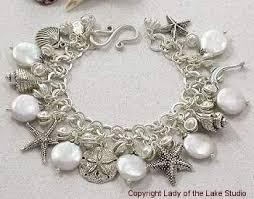 unique themed designer charm bracelets pearl and