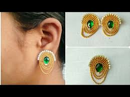 home made earrings diy earrings how to make simple and easy earrings