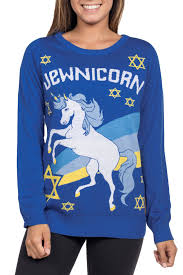 hanukkah sweater s jewnicorn unicorn hanukkah sweater tipsy elves