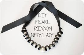 jewelry ribbon necklace images Twenty pearl necklace tutorials my girlish whims jpg