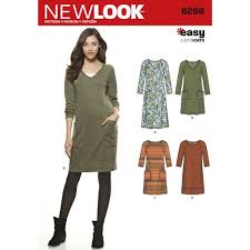 pattern review new look 6298 teal knit dress stash contest entry