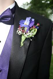 Boutineer Flowers Iris Boutonniere In Cherry Hill Nj Flower Boutique