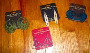 green tree earrings lipstick and candy cigarettes green tree jewelry earrings haul