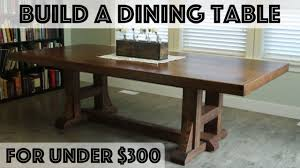 pottery barn farmhouse table diy dining table pottery barn inspired farmhouse table youtube