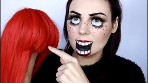 creepy doll halloween makeup youtube