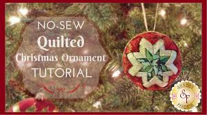 no sew quilted ornament with bosworth of