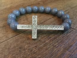 cross beads bracelet images Silver pave cross bead bracelet jpg