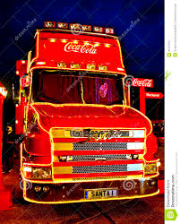 coca cola christmas truck editorial stock image image 35701534