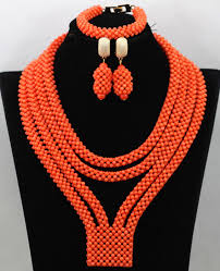 coral beads necklace images African coral beads necklace earring bracelet jewellery set free jpg
