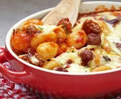 cuisiner les gnocchis gratin de gnocchis frais aux chignons recette de gratin de