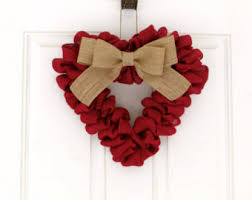 valentines day wreath burlap heart wreath with arrow for valentines day