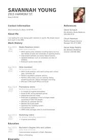 Marketing Intern Resume Sample by Media Relations Intern Resume Samples Visualcv Resume Samples