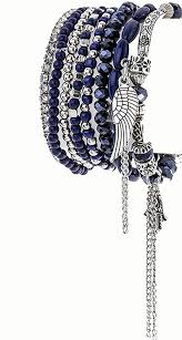 Shopping Resources For Bohemian Charm by Amazon Com Aris Huge Stack Bohemian Beaded U0026 Charm Stretch