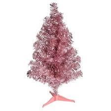 tinsel christmas tree pink 24 inch tinsel christmas tree shabby chic tabletop tree ebay