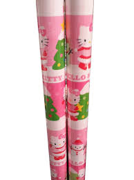 hello wrapping paper make each present pink and bright with hello christmas
