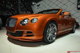bentley orange geneva 2014 bentley continental gt speed facelift gtspirit
