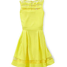 gb girls 7 16 sheer insert dress yellow from dillard u0027s