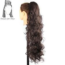 ponytail hair extensions 30inch 220g wavy heat resistant synthetic ponytail hair extensions