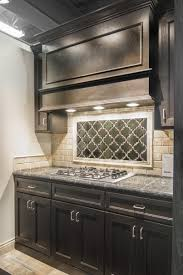 kitchen artisan arabesque ceramic tile focal point with sandlewood