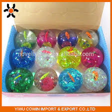 ball with light inside display package way tpu rubber bouncing ball with fish and butterfly