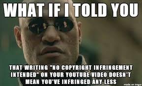 Meme Copyright - no copyright infringement intended meme guy