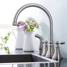 Kitchen Faucet Side Spray Widespread Kitchen Faucet With Side Spray
