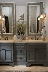 mirror country cottage bathroom decor with artistic mirrors