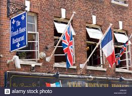 Flags Restaurant Menu Union Flags And A French Tricolour Flying Outside The French House