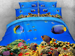 Aquarium Bed Set Sale Pretty 3d Fish Aquarium Printed 4 Pcs Duvet Cover Set Bed