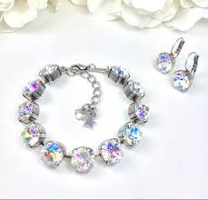 blue crystal bracelet swarovski images Swarovski crystal 10mm bracelet designer inspired special jpg