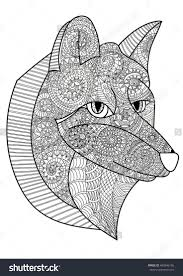 354 best coloring wolf fox images on pinterest foxes coloring