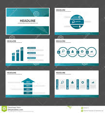 blue polygon multipurpose infographic presentation brochure flyer