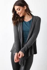juniors sweater juniors solid drape front cardigan tops gs