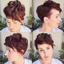 curly shaved side hair 35 very short hairstyles for women pretty designs