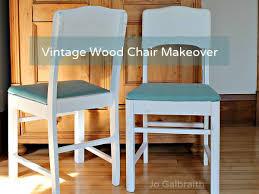 Vintage Wooden Chair Vintage Wood Chair Makeover Jo Galbraith Design