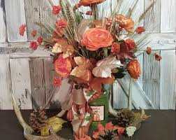 autumn centerpiece etsy