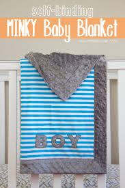 diy blanket self binding minky baby blanket with applique so fast so