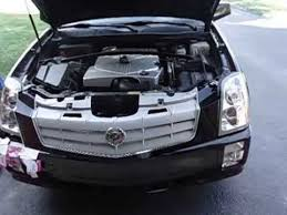 2004 cadillac srx headlight assembly srx headlight removal with bumper on car